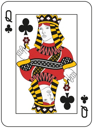 original design: Queen of clubs. Original design