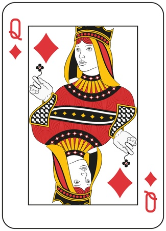 original design: Queen of Diamonds. Original design Illustration