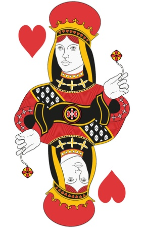 queen of hearts: Queen of hearts without card. Original design