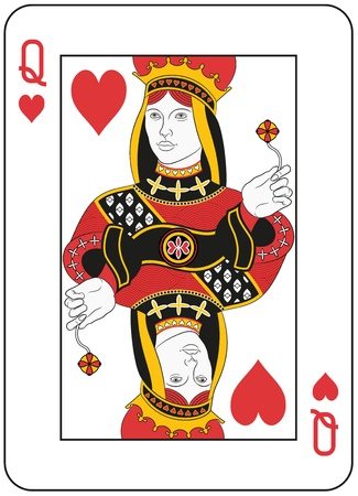 queens: Queen of hearts. Original design