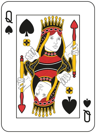 lady in red: Queen of spades. Original design