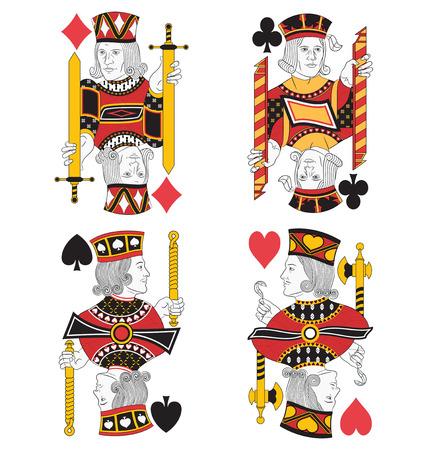 Four Jacks zonder kaarten. Origineel ontwerp
