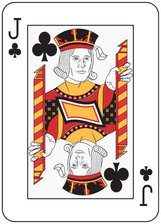 jack of clubs: Jack of Clubs. Original design Illustration