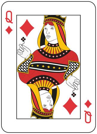 Königin der Diamanten. Original Design Standard-Bild - 25042258