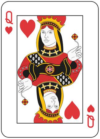 Reina de corazones. Diseño original Ilustración de vector