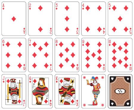 Karten, Diamant-Anzug, Joker und zurück Standard-Bild - 26577752