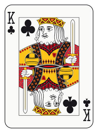 playing card: King of clubs playing card