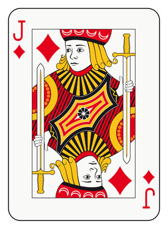 Jack of diamonds playing card Çizim