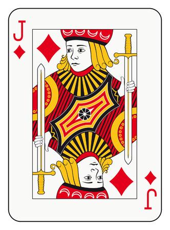 Jack of diamonds playing card Illustration