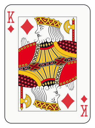 King of diamonds playing card Ilustração