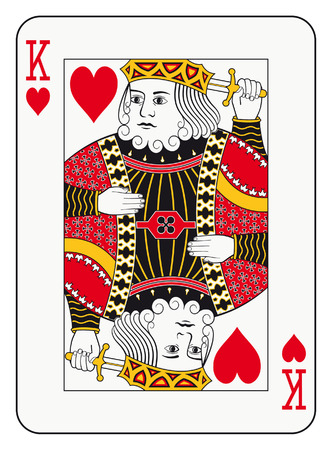 king of hearts: King of hearts playing card