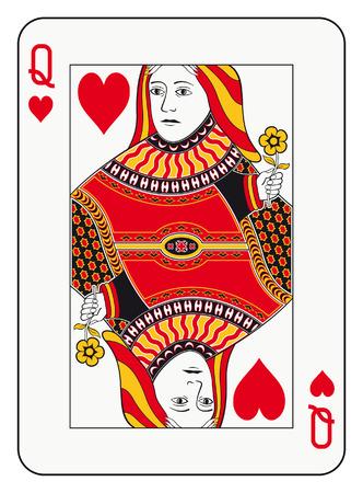 Królowa karty gry Kierki