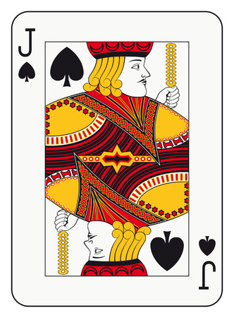 Jack of spades playing card Çizim