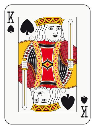 踏鋤トランプのキング  イラスト・ベクター素材