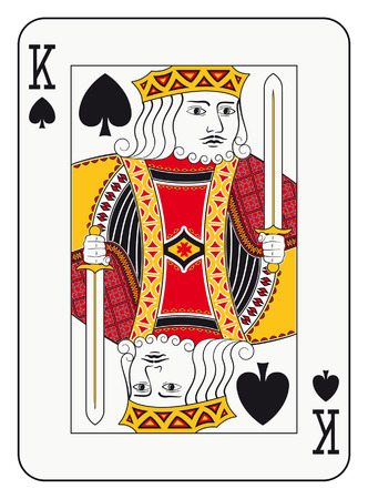 King of spades playing card Vectores
