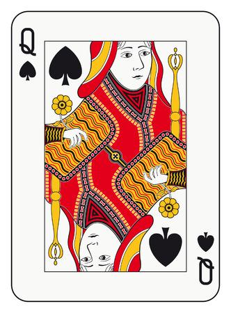 카드를 재생 스페이드의 여왕 일러스트