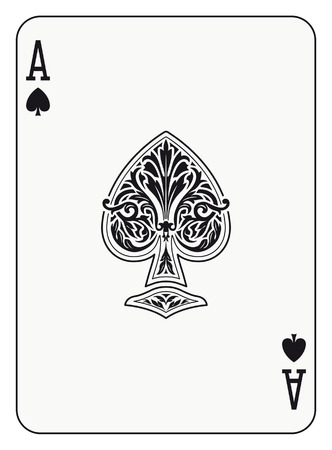 playing card symbols: Ace of spades playing card