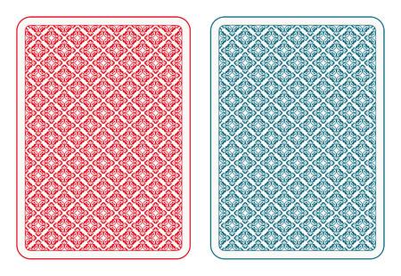 Jugando a las cartas de vuelta dos colores Foto de archivo - 31585105