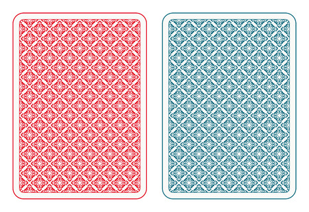 white card: Playing cards back two colors
