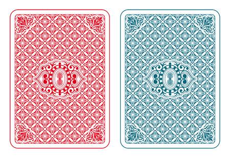 Jugando a las cartas de vuelta dos colores