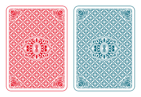 in the back: Playing cards back two colors