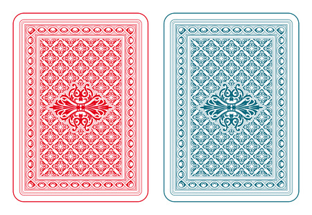 playing cards: Playing cards back two colors
