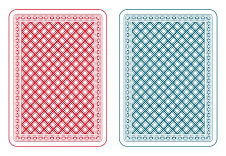Jugando a las cartas de vuelta dos colores Foto de archivo - 31585108