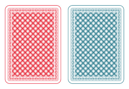 Playing cards back two colors Vector