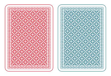 Spielkarten wieder zwei Farben Standard-Bild - 31585109