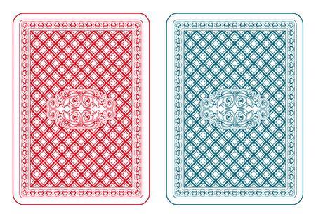 Jugando a las cartas de vuelta dos colores Foto de archivo - 31585110