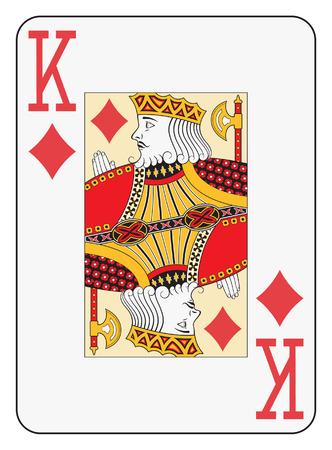 index card: Jumbo index king of diamonds playing card Illustration