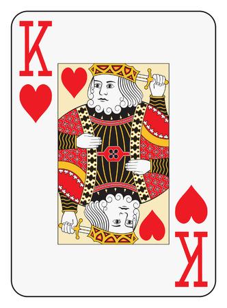 Jumbo index king of hearts playing card