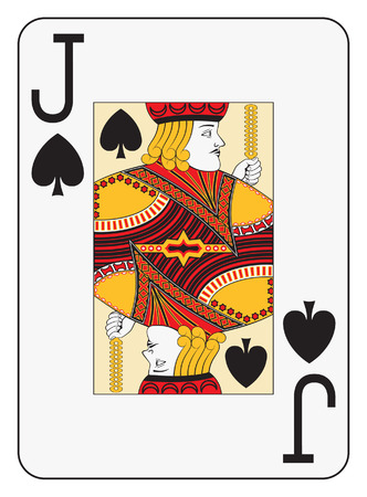hand holding playing card: Jumbo index jack of spades playing card