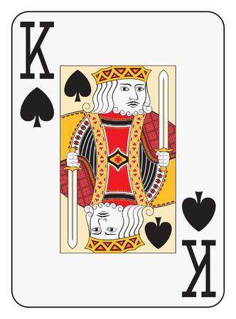 Jumbo index king of spades playing card