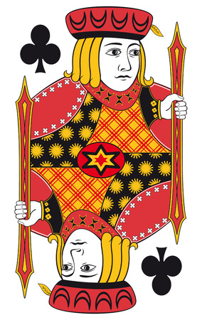hand holding playing card: Jack of clubs without playing card background