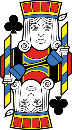 jack of clubs: Stylized Jack of Clubs no card