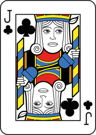 jack of clubs: Stylized Jack of Clubs