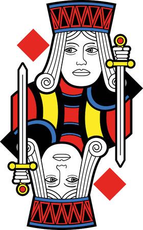 jack of diamonds: Stylized Jack of Diamonds no card