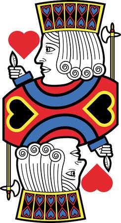 Stylized Jack of Hearts no card Illustration