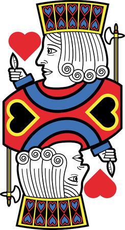 jack of hearts: Stylized Jack of Hearts no card Illustration