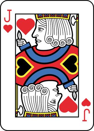Stylized Jack of Hearts Illustration