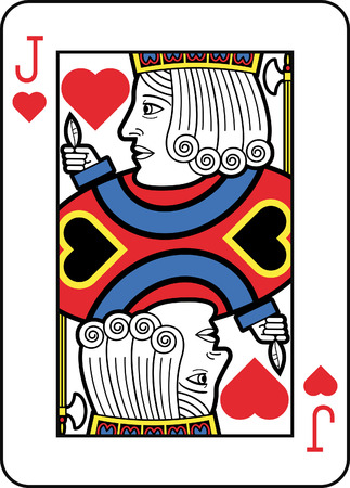 jack of hearts: Stylized Jack of Hearts Illustration