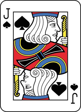Stylized Jack of Spades Illustration