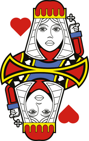 queen of hearts: Stylized Queen of Hearts no card