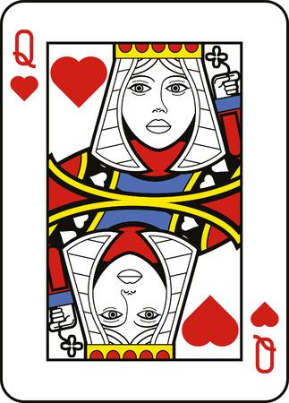 corazones azules: Estilizada Reina de Corazones Vectores
