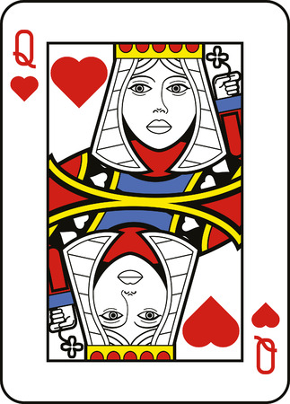 playing card: Stylized Queen of Hearts