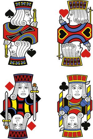 jacks: Four Jacks without cards. Original design Illustration