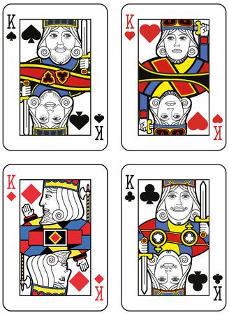 diamond heart: Four Kings. Original design Illustration