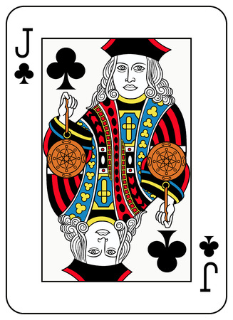 seraphic: A Jack of clubs playingcard inspired by french tradition Illustration