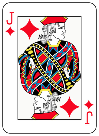 seraphic: A Jack of diamonds playingcard inspired by french tradition